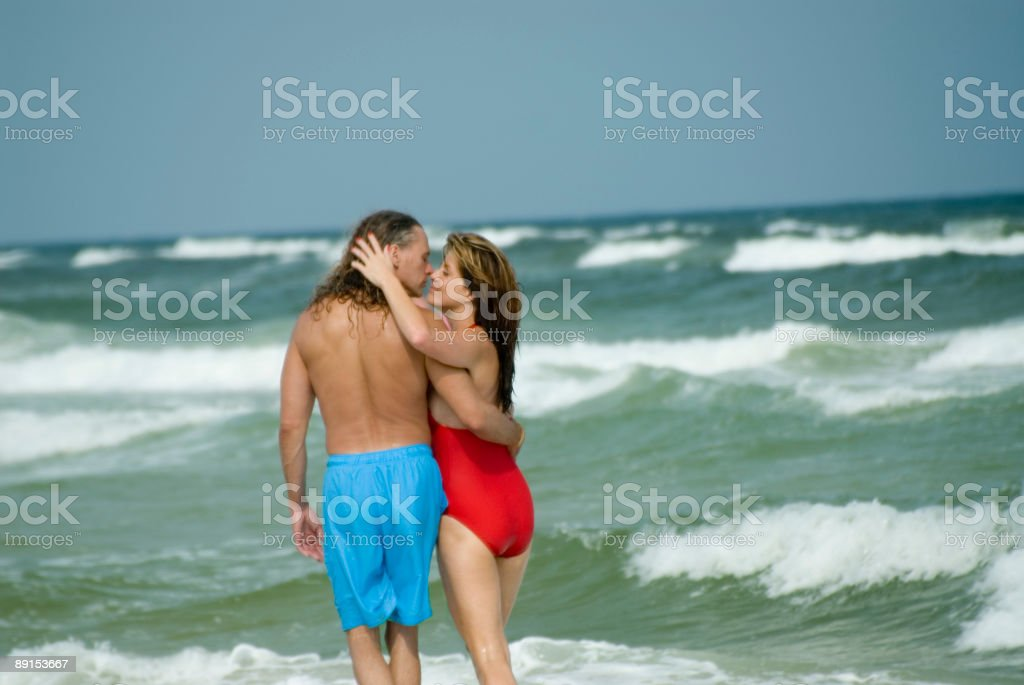 beach-lovers royalty-free stock photo