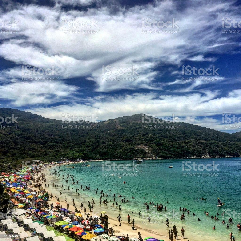 Cativante paisagem praiana - foto de acervo