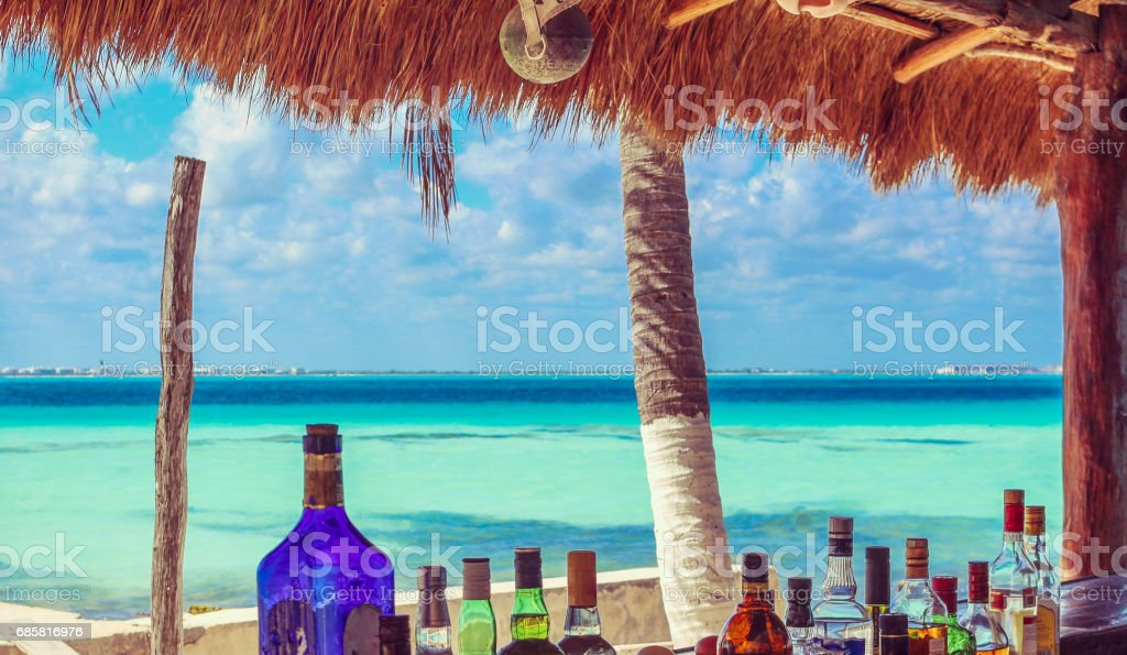 Beachside Bar in Paradise stock photo