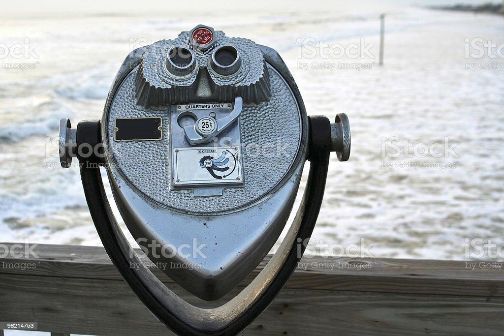 해변 쌍안경 royalty-free 스톡 사진