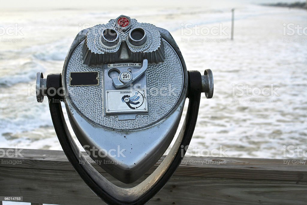 Beachside Binoculars royalty-free stock photo