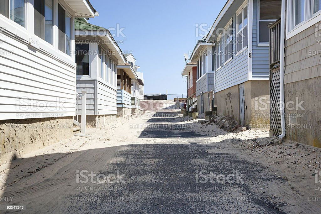 Beachside Bungalows stock photo