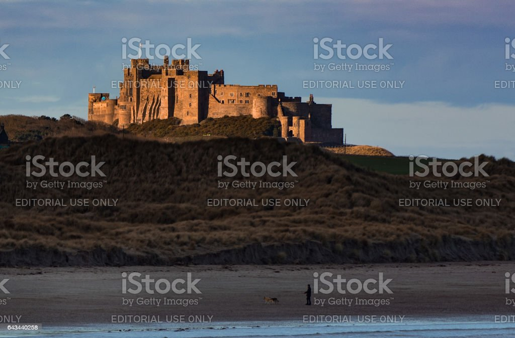 Beachside Castle stock photo