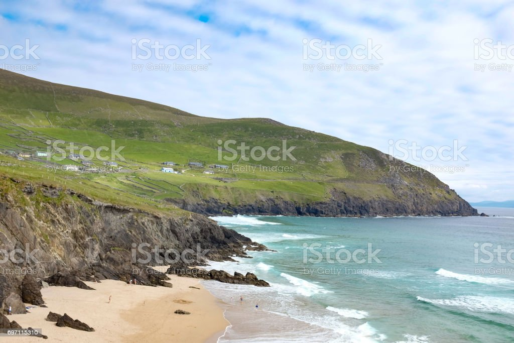 Beachside cottages stock photo