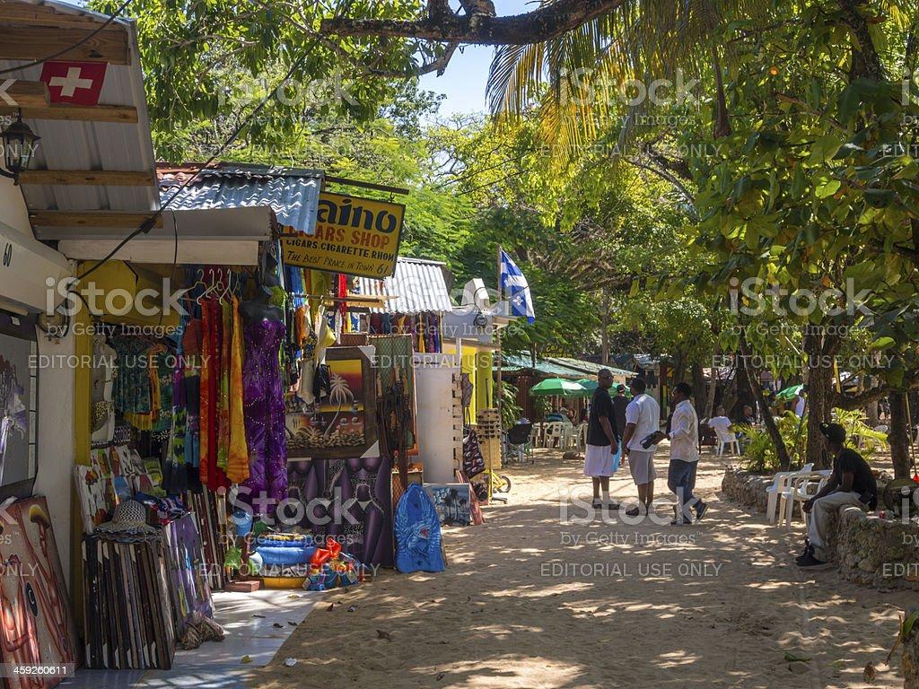 Beachside craft stalls, Sosua, Dominican Republic royalty-free stock photo