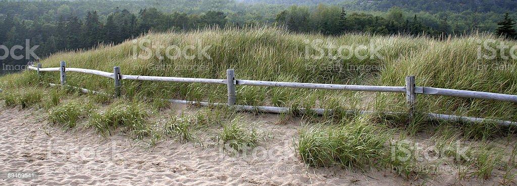 Beachside Fench Panorama royalty-free stock photo