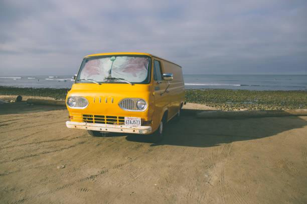 Beachside Home on Wheels stock photo