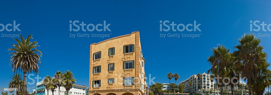 Beachside hotels royalty-free stock photo