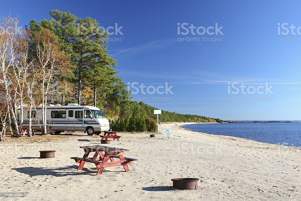 Beachside Summer RV Vacations stock photo