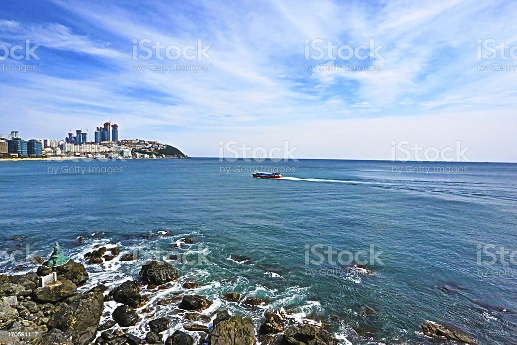 Beach,south korea royalty-free stock photo