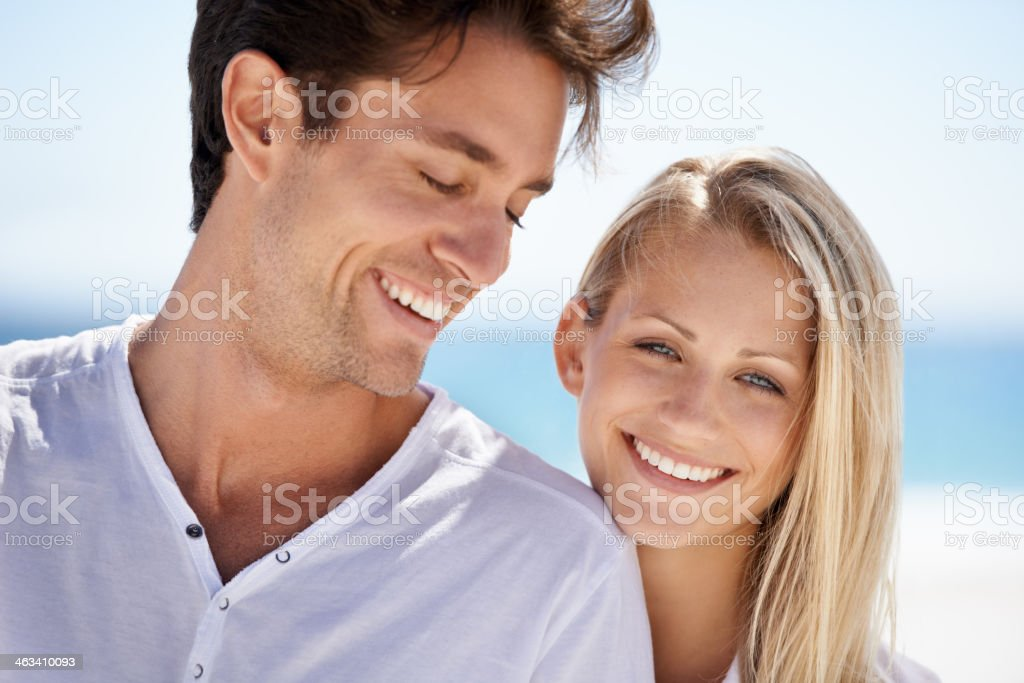 Beachtime laughter royalty-free stock photo