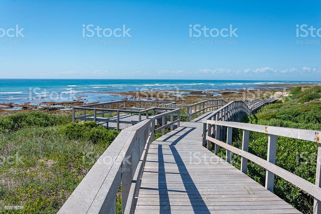 Beachwalk in Port Elisabeth, South Africa stock photo