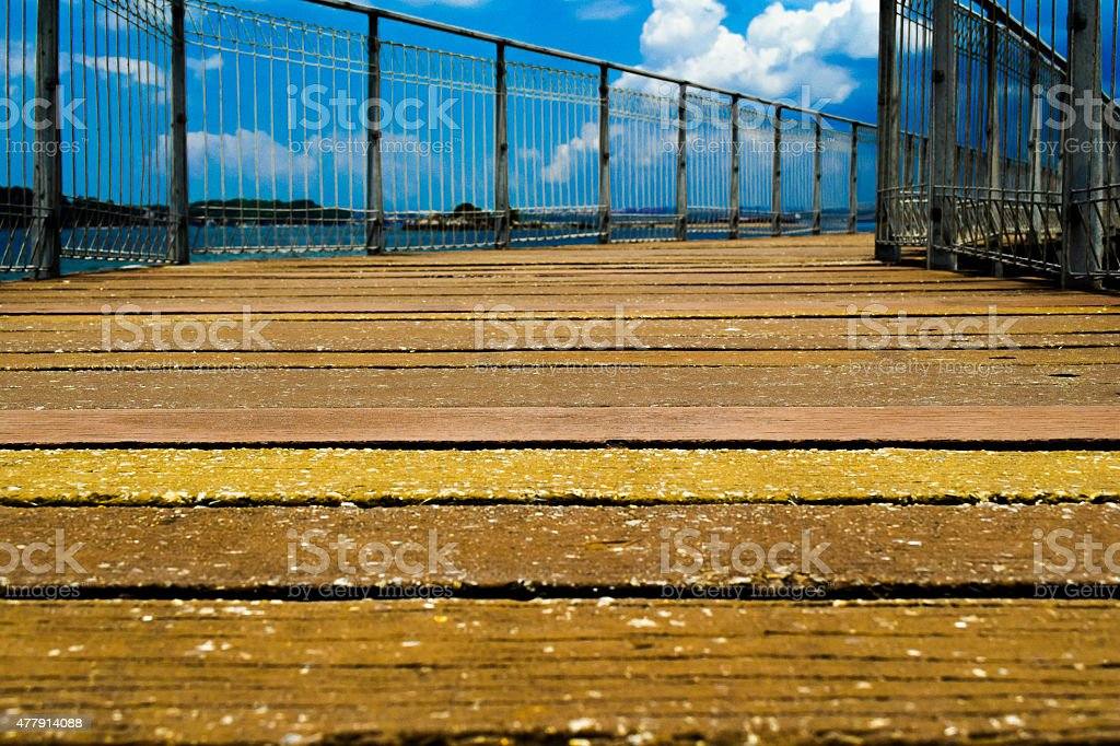 Beachway at Pulau Ubin Singapore stock photo
