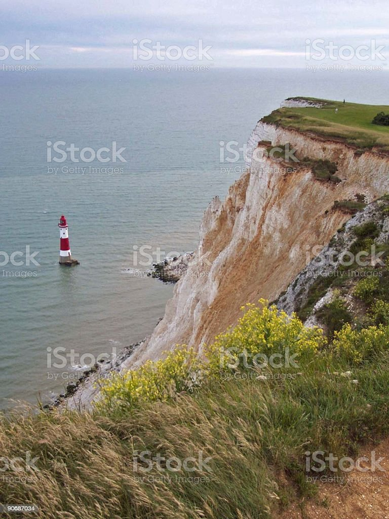 Beachy Head Cliff and lighthouse royalty-free stock photo