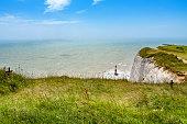 ビーチーヘッドます。East Sussex 、イングランド、英国