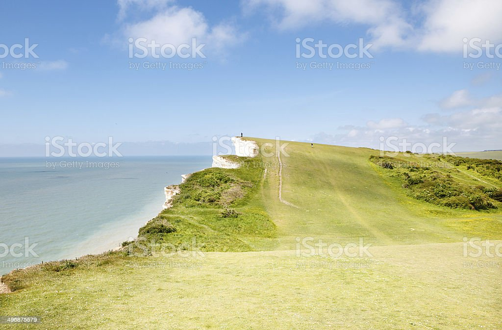 Beachy head, East Sussex, English South coast. stock photo