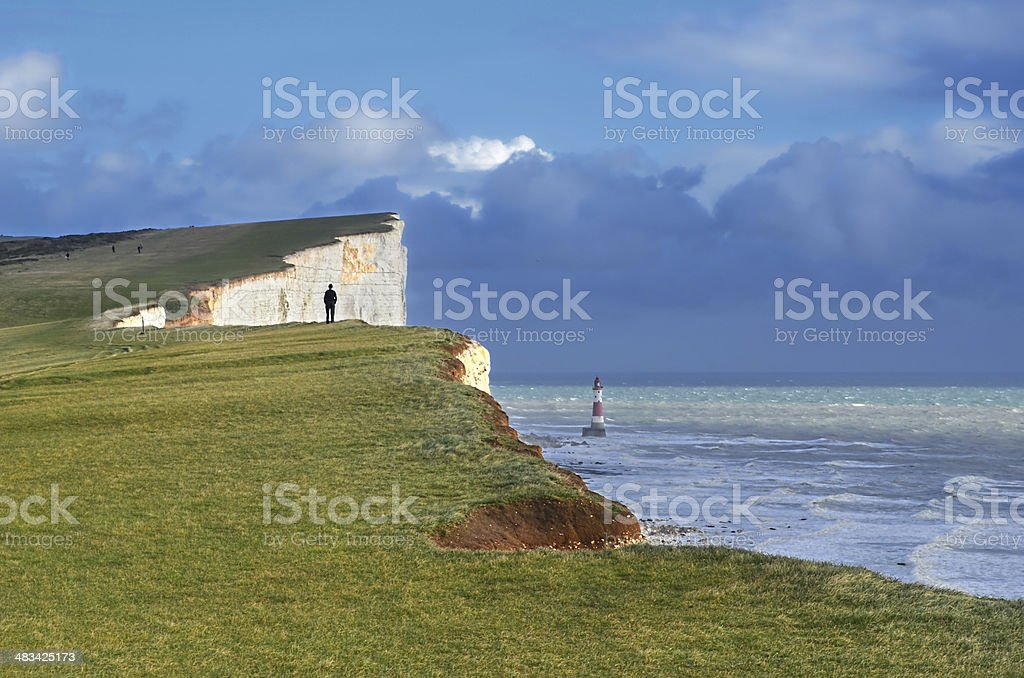 Beachy Head Eastbourne stock photo