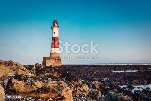 Beachy Head Lighthouse at Sunset, Eastbourne, East Sussex