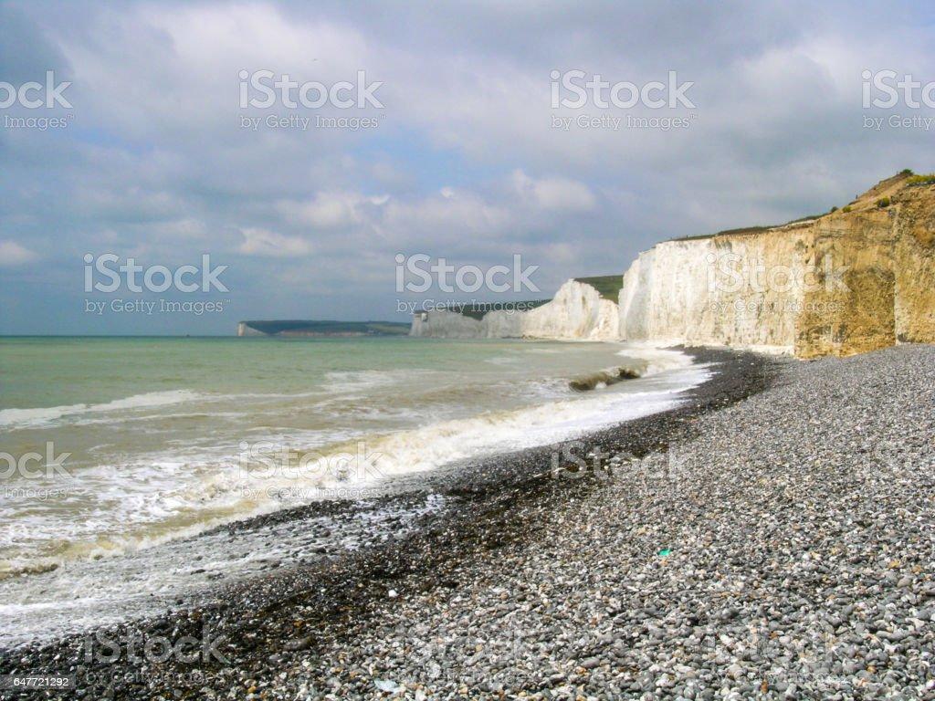 Beachy head shore in UK stock photo
