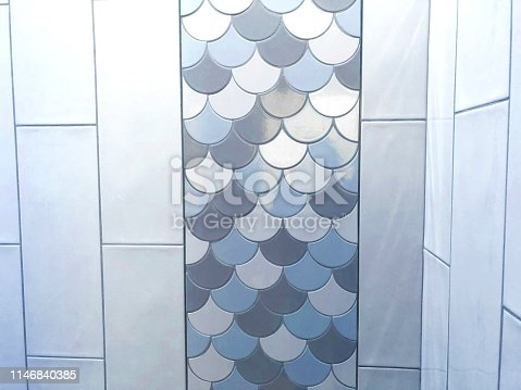 beachy tile pattern background shower