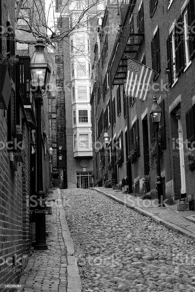 Beacon Hill, Boston royalty-free stock photo