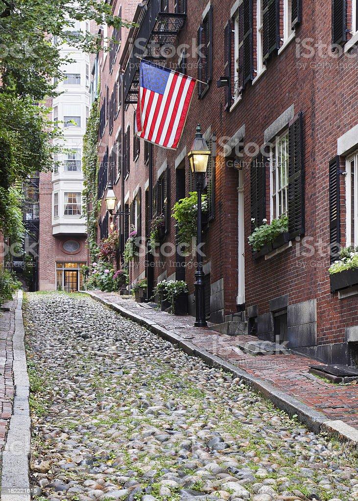 Beacon Hill Boston royalty-free stock photo
