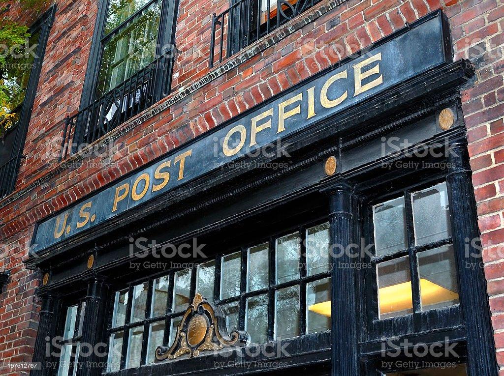 Beacon Hill Post Office on Charles Street, Boston stock photo