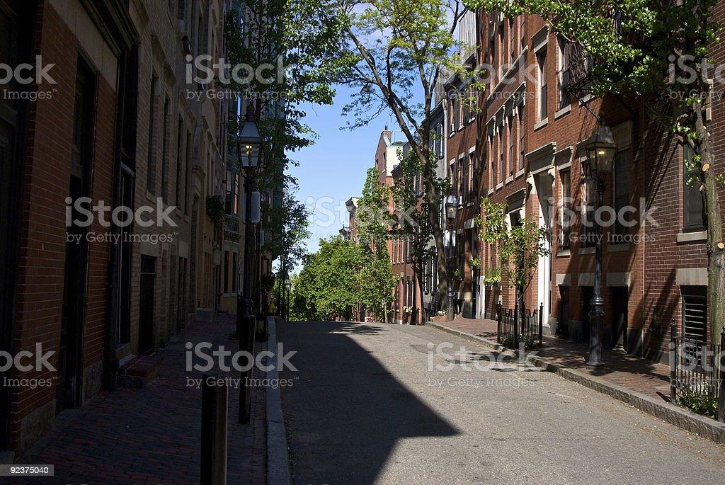 beacon hill street royalty-free stock photo