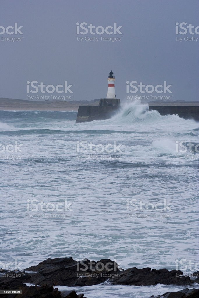 Beacon in storm royalty-free stock photo