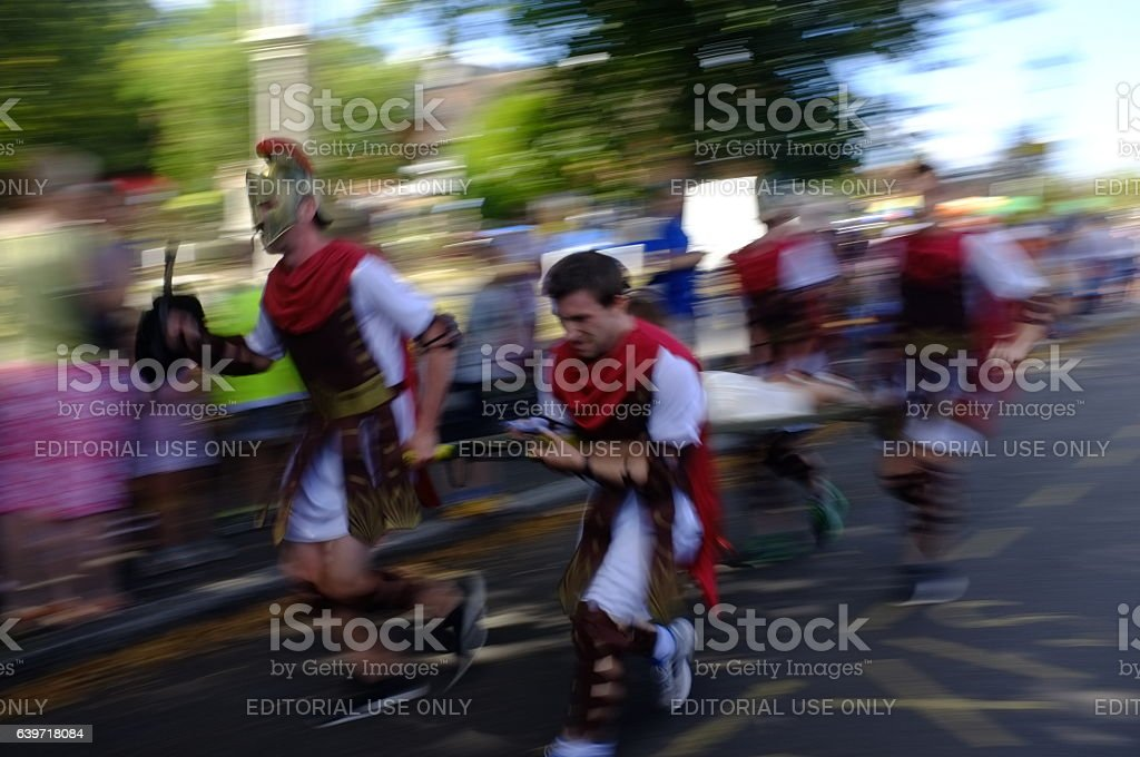 Beaconsfield Country Fair Stretcher Race 2016 stock photo
