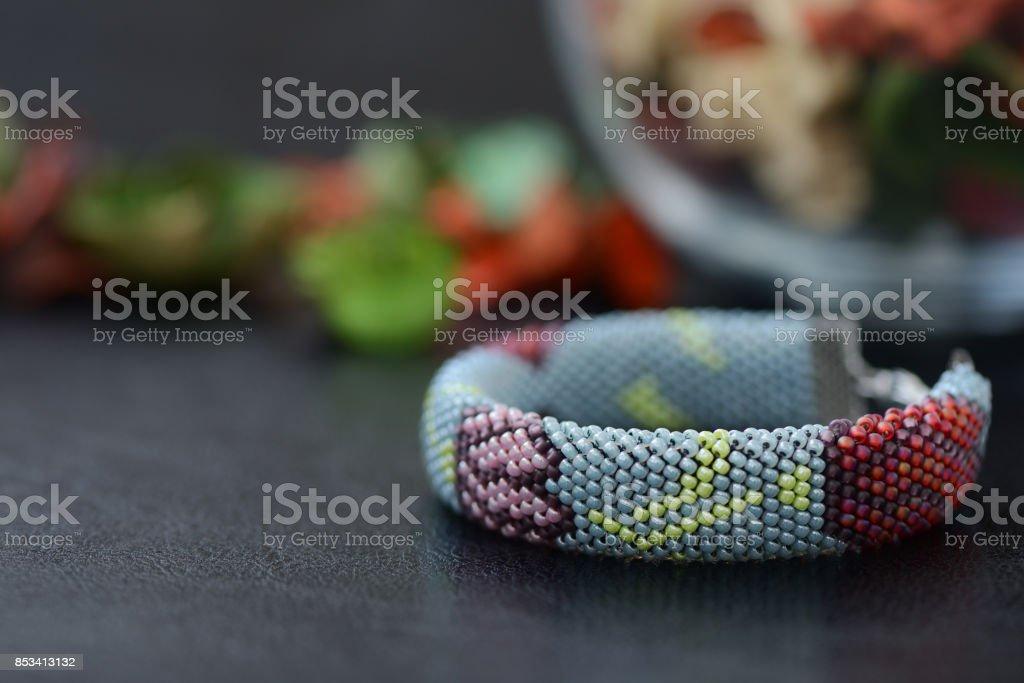 Perles Avec Gris Bracelet Couleur Libre Crochet De Droit Photo kZuTXPOi