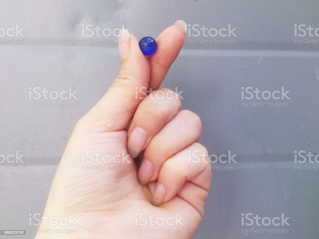 Bead in hand. royalty-free stock photo