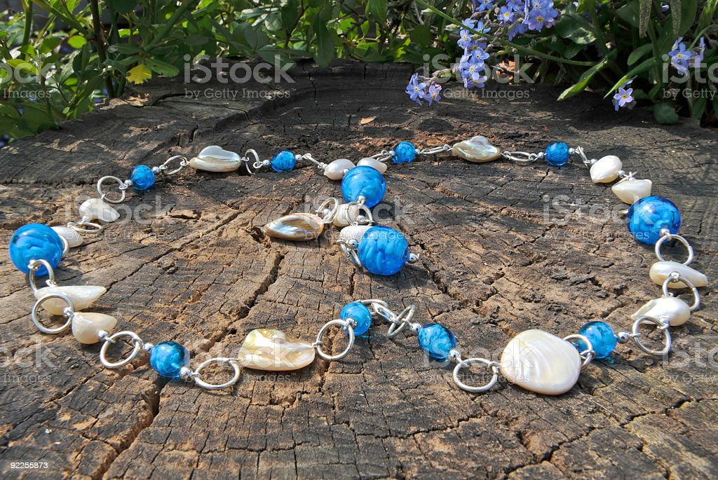 Bead Jewelry making as a hobby royalty-free stock photo