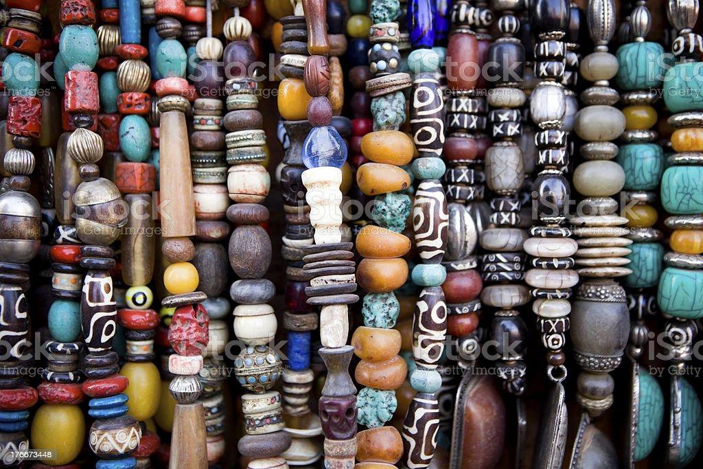Bead Necklace Jewellery Nepal royalty-free stock photo