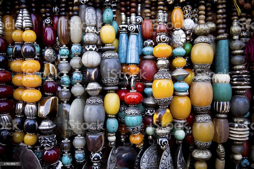 Bead Necklace Jewellery Nepal royalty-free stock photo