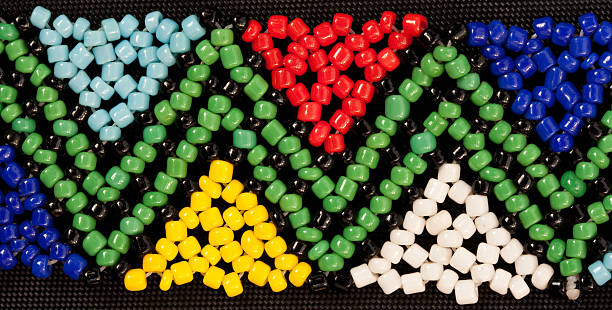 bead work african stock photo