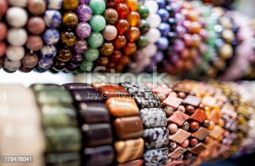 beaded colorful gem bracelet
