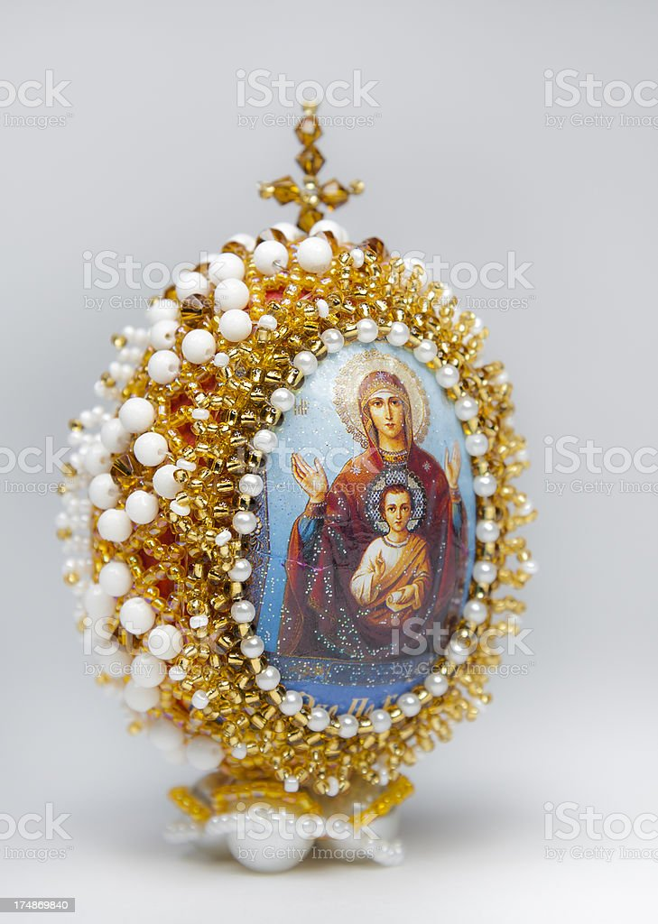 Beaded Icon Egg royalty-free stock photo