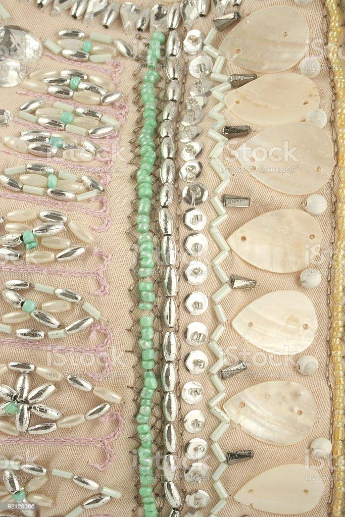 beaded material royalty-free stock photo