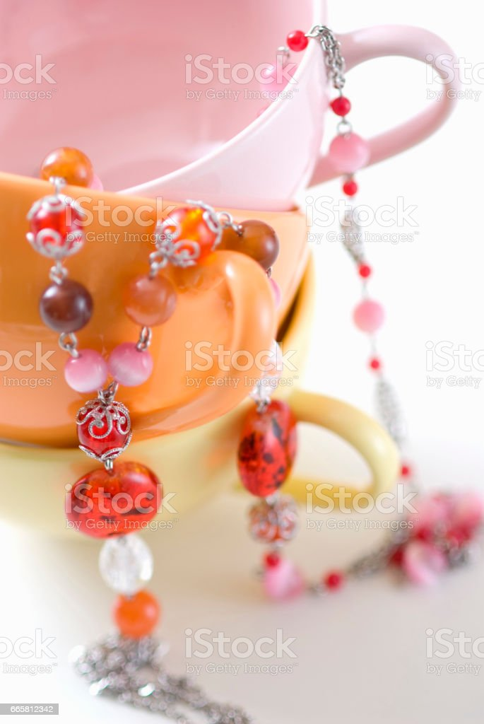 Beaded pendant stock photo