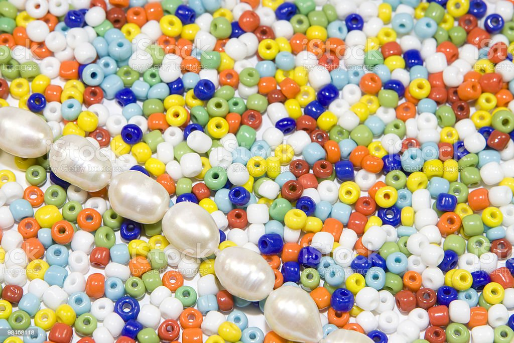 Beads and pearls royalty-free stock photo