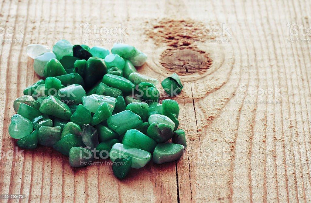 beads nephrite stones stock photo