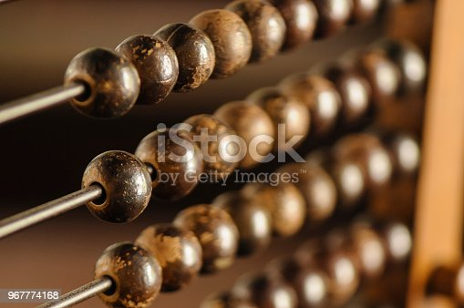 Beads on an abacus
