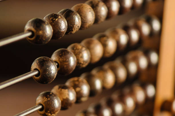 Beads on an abacus - foto stock