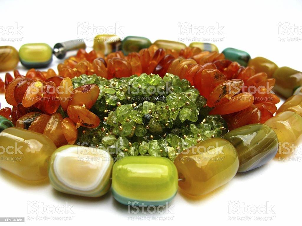Beads on white royalty-free stock photo