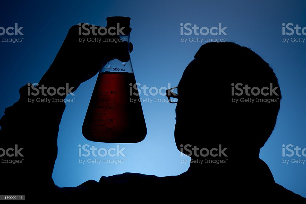 Beaker and Scientist royalty-free stock photo