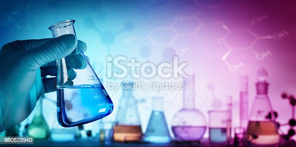 istock Beaker With Formula In Laboratory 660523940