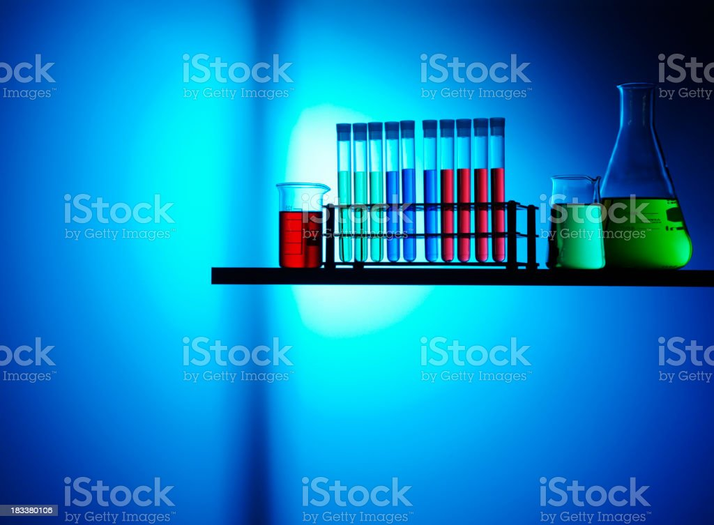 Beakers for Science Research royalty-free stock photo