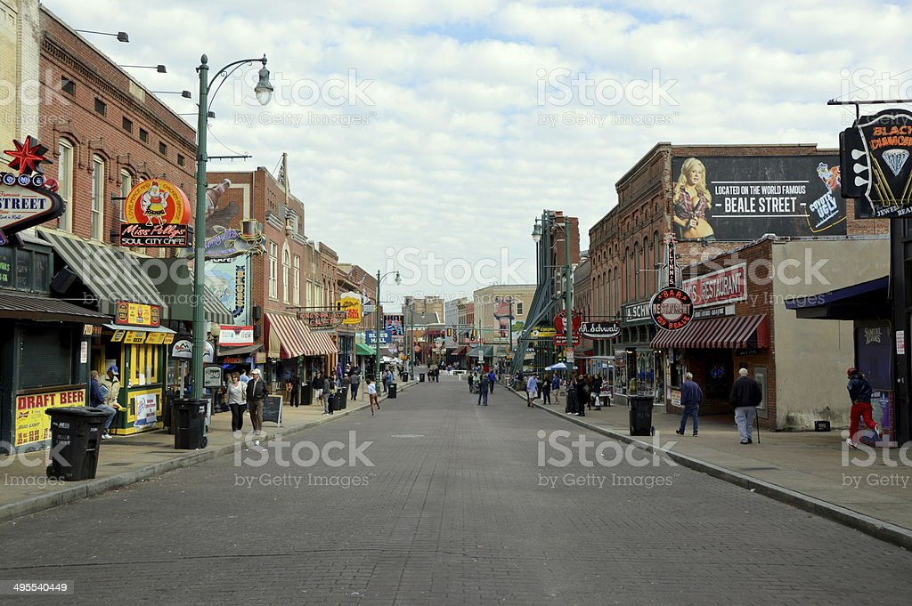 Beale St, Memphis stock photo