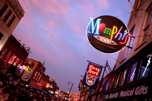 Beale Street Downtown Memphis Tennesse Stock Photo - Download Image Now